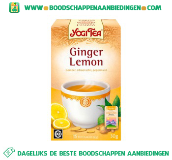 Yogi Tea Ginger-lemon thee aanbieding