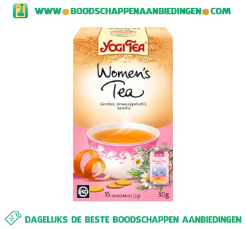 Yogi Tea Womens fitness thee aanbieding