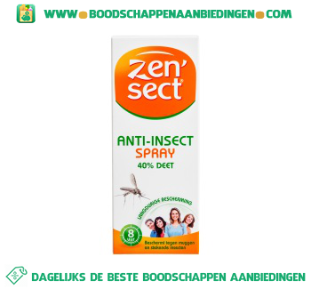 Zensect Anti insect spray 40% deet aanbieding