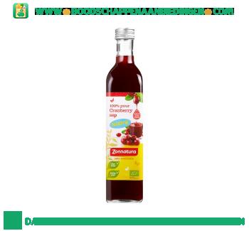 Zonnatura 100% puur cranberry sap aanbieding