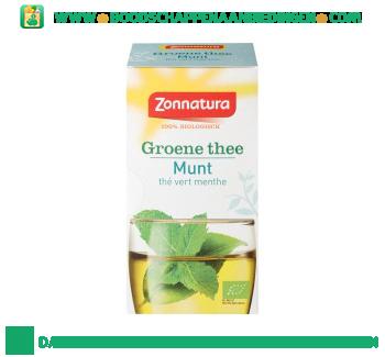 Zonnatura Biologische groene thee munt 1-kops aanbieding