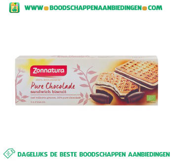 Zonnatura Biscuits pure chocolade aanbieding
