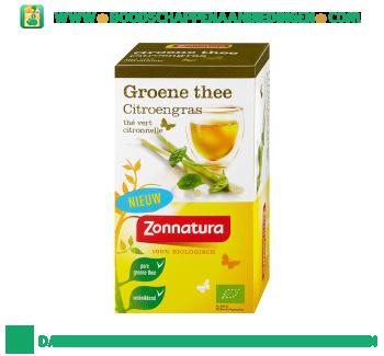 Zonnatura Groene thee citroengras 1-kops aanbieding