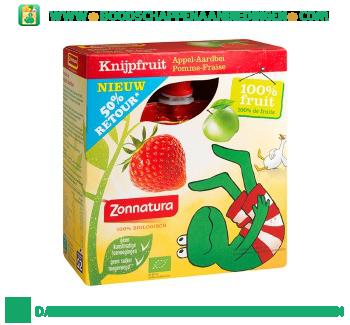 Zonnatura Knijpfruit appel & aardbei aanbieding