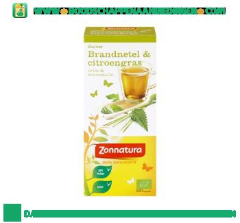 Zonnatura Kruidenthee brandnetel & citroengas aanbieding