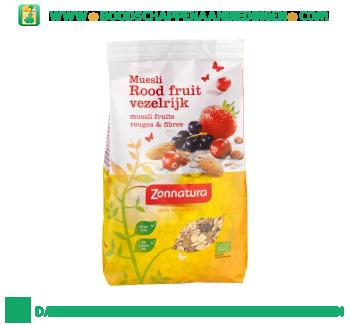 Zonnatura Muesli rood fruit vezelrijk aanbieding