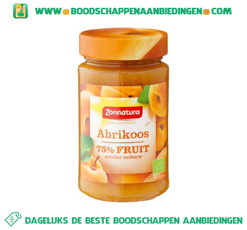 Zonnatura Puur fruit abrikoos aanbieding