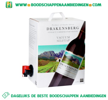 Drakensberg cabernet sauvignon bag in box aanbieding