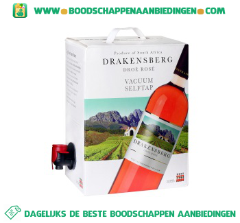 Zuid-Afrika Drakensberg rosé bag in box aanbieding